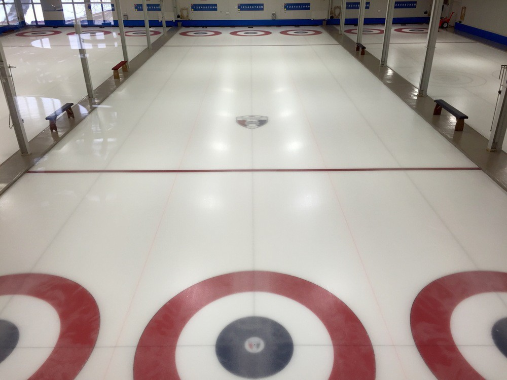 St. Paul Curling Club sheets from above